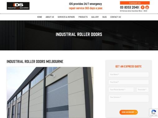 Industrial Roller Door Repairs Melbourne – IDS Doors