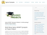 How to Get Ignou MANP Project Online