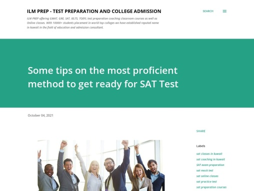 Some tips on the most proficient method to get ready for SAT Test