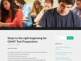 Steps to the right beginning for GMAT Test Preparation