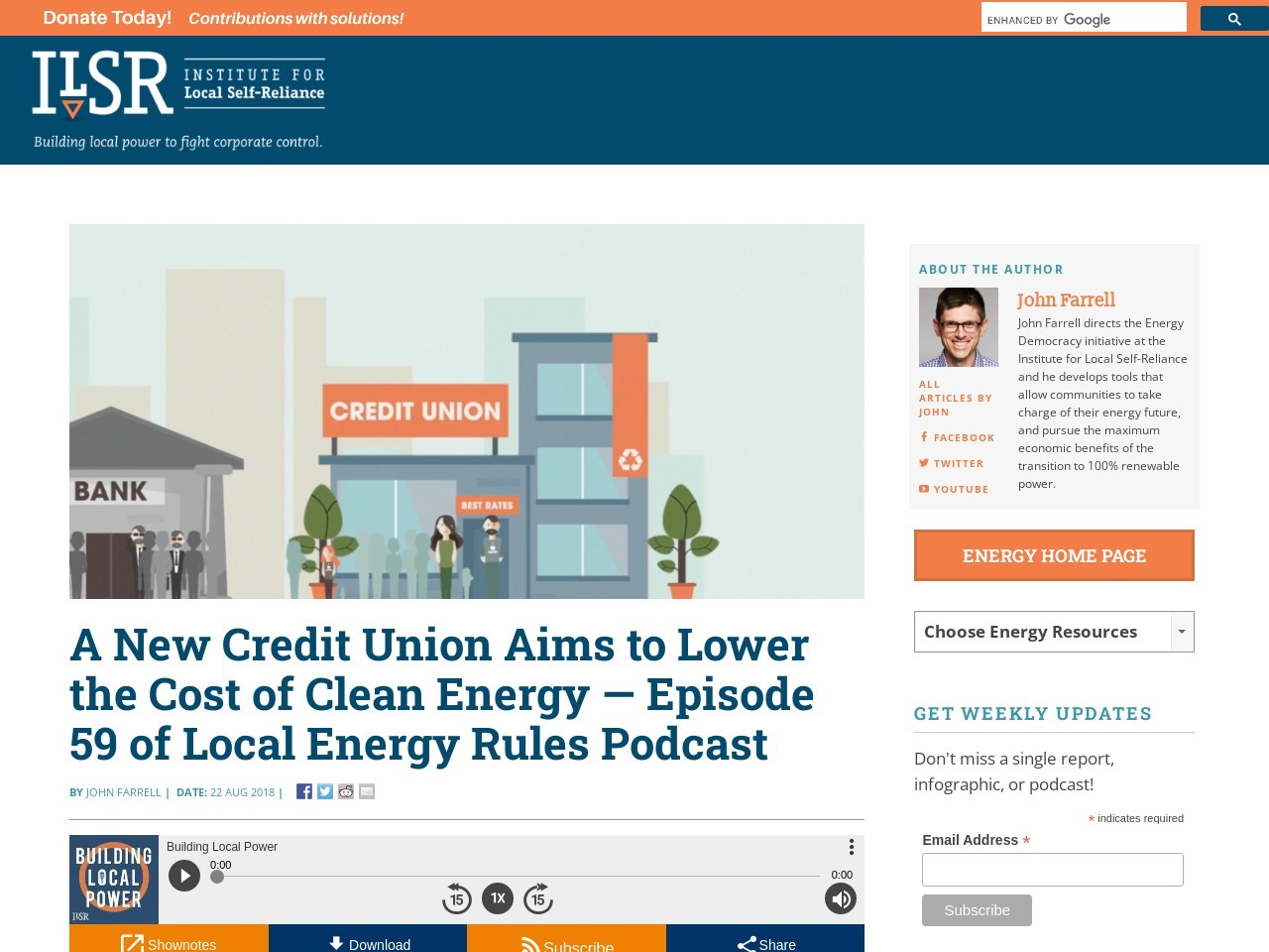 A New Credit Union Aims to Lower the Cost of Clean Energy