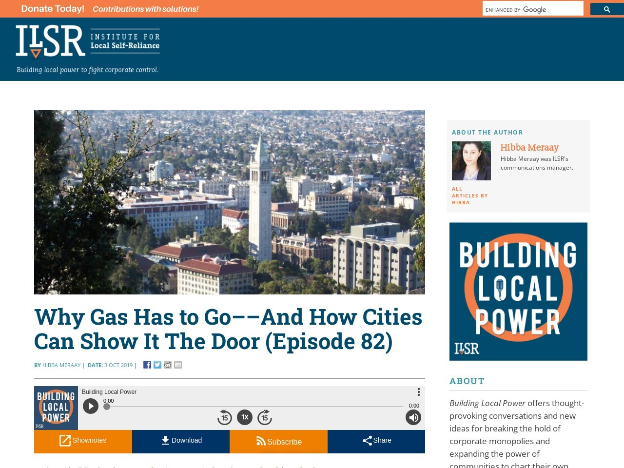 Why Gas Has to Go––And How Cities Can Show It The Door (Episode 82)
