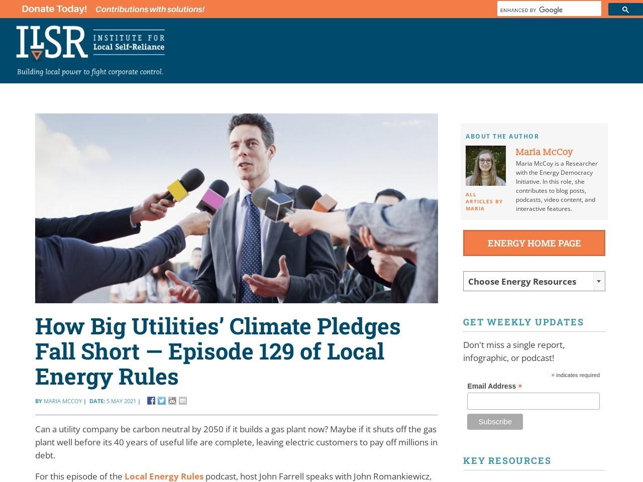 How Big Utilities' Climate Pledges Fall Short