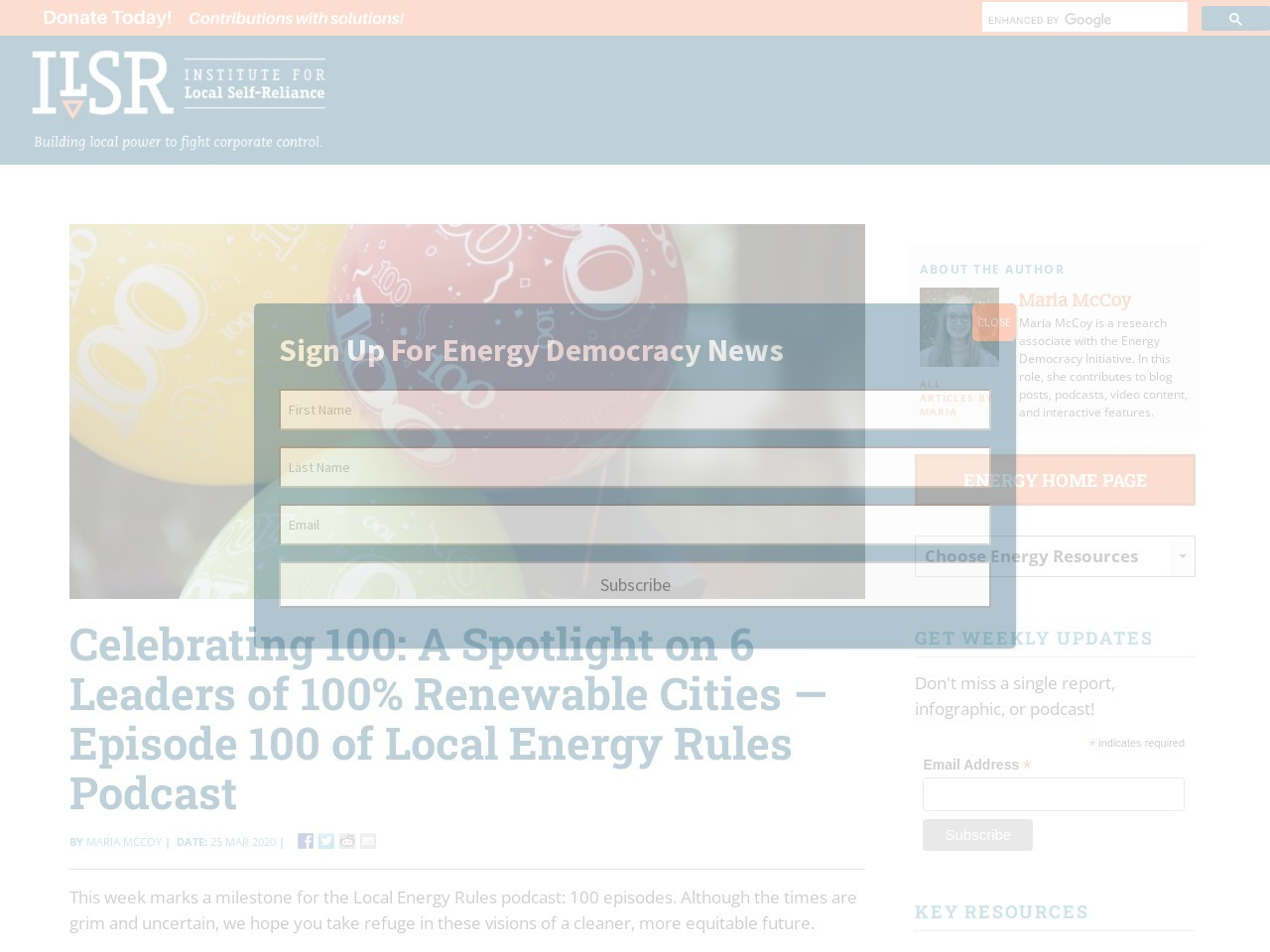 Celebrating 100: A Spotlight on 6 Leaders of 100% Renewable Cities