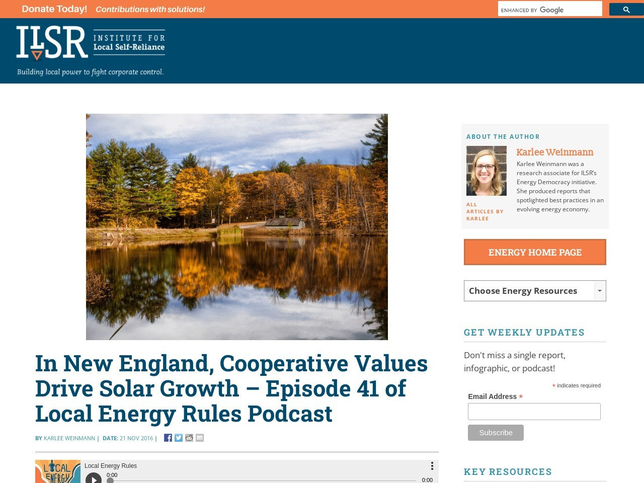 In New England, Cooperative Values Drive Solar Growth