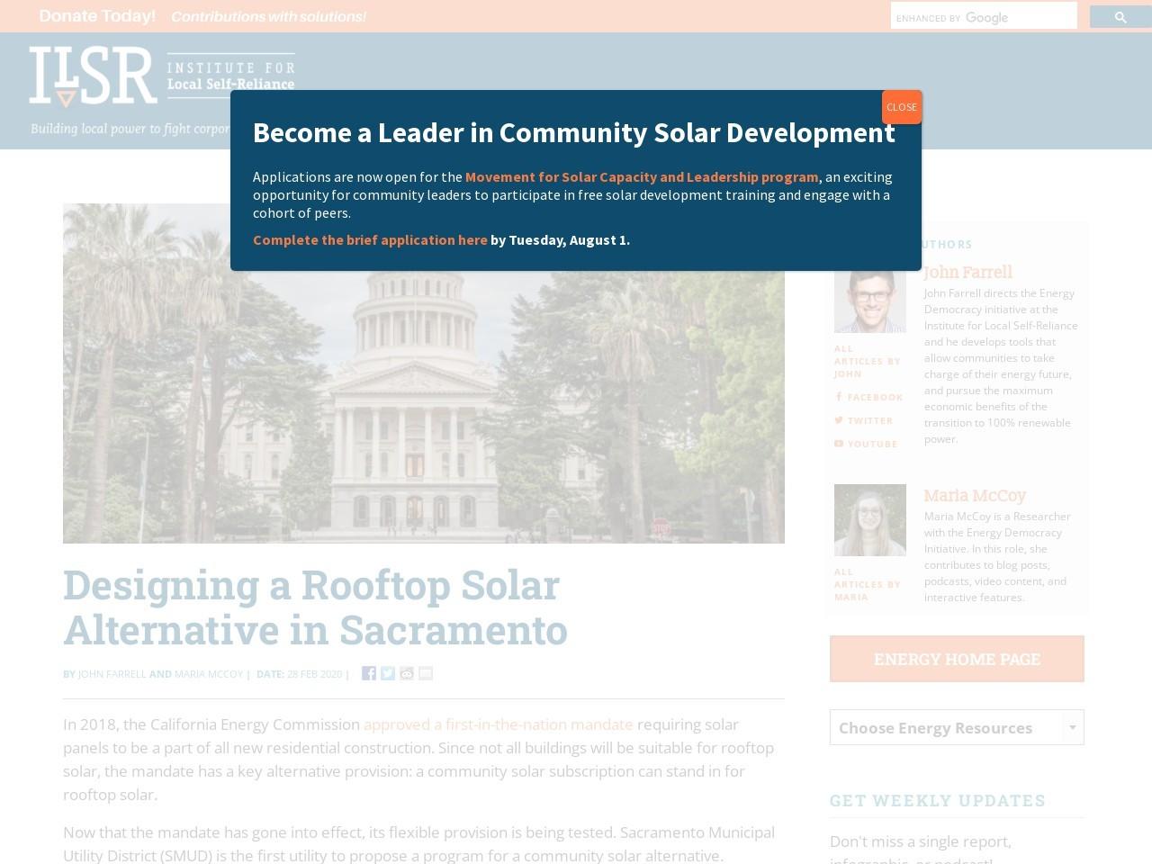 Designing a Rooftop Solar Alternative in Sacramento