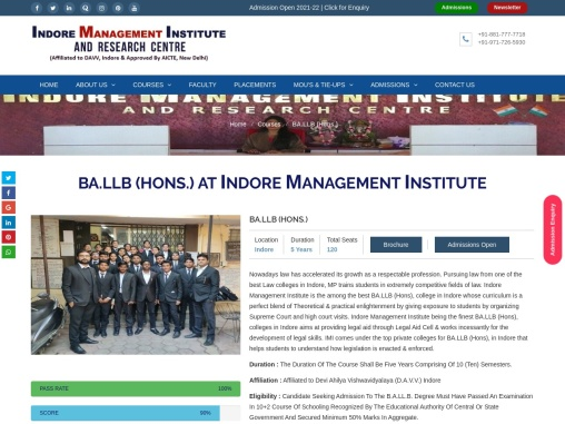 Top BA LLB College in indore Best BA LLB college in indore
