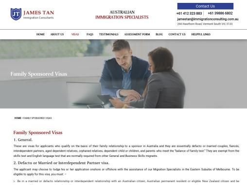 Parent, Partner & Spouse Visa in Melbourne, Spouse Visa Lawyers Eastern Suburbs   James Tan Immigrat