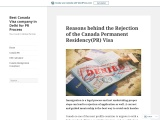 Reasons behind the Rejection of the Canada PR Visa