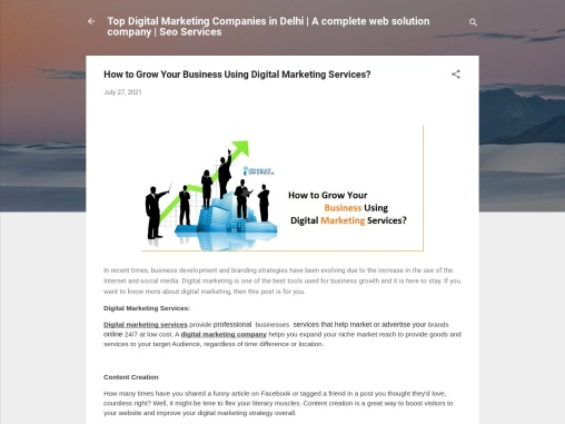 How to Grow Your Business Using Digital Marketing Services?