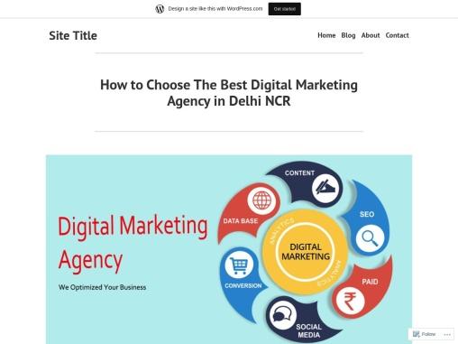 How to Choose The Best Digital Marketing Agency in Delhi NCR