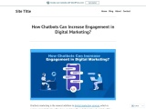 How Chatbots Can Increase Engagement in Digital Marketing?