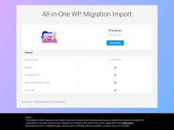 All-in-One WP Migration Import