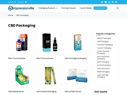 CBD Packaging | Custom CBD Product Packaging at Wholesale