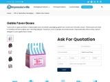 Gable Favor Boxes   Custom Gable Favor Boxes Wholesale