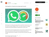 WhatsApp all set to launch voice message speed controls
