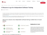 6 Reasons to go for Independent Software Testing