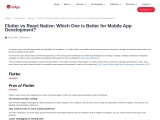 Flutter vs React Native: Which One is Better?