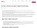 The Role of Agile and DevOps in Digital Transformation