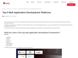 Top 5 Platforms for Web Application Development