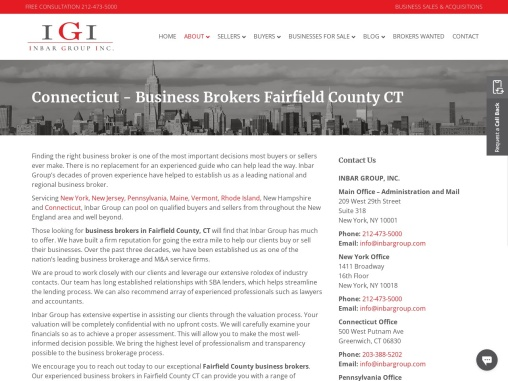 Business Brokers Fairfield County CT | Fairfield County Business Brokers | Business Broker Fairfield County CT