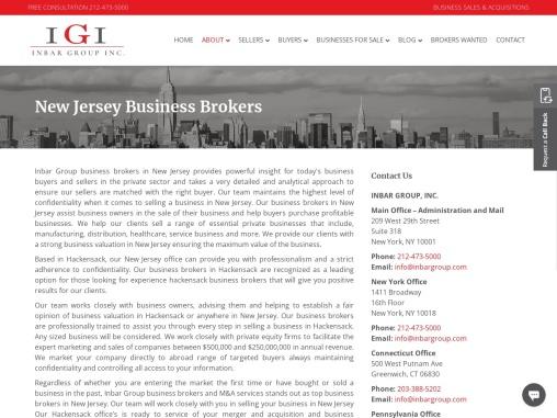 Business Broker in New Jersey   Business Valuation New Jersey   Sell a Business in New Jersey