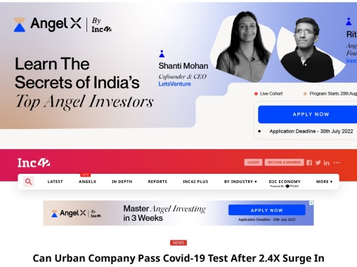 Can Urban Company Pass Covid-19 Test After 2.4X Surge In Bookings In FY20?