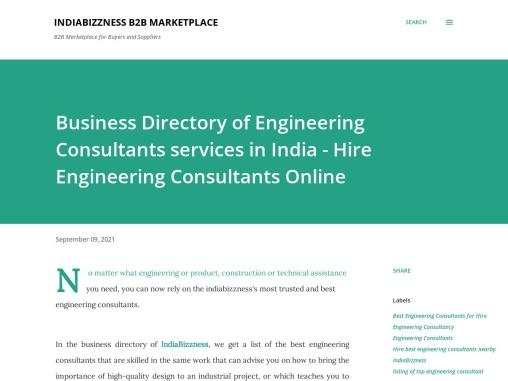 Hire Engineering Consultants Online – Directory of Engineering Consultants Services Providers