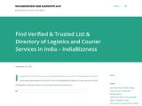 Explore Listing of Verified and Trusted Directory of Logistics and Courier Services Providers