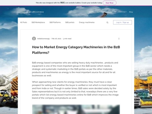 How to Market Energy Category Machineries in the B2B Platforms – IndiaBizzness