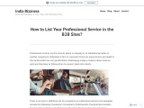 List Your Professional Service at IndiaBizzness B2B Marketplace – Freelancers – Beauty Parlor