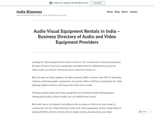 Premium Quality Audio and Visual Equipment Available on Rent – IndiaBizzness