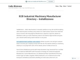 Industrial Machinery Manufacturer and Wholesale Suppliers Directory – Buyers Sellers – IndiaBizzness