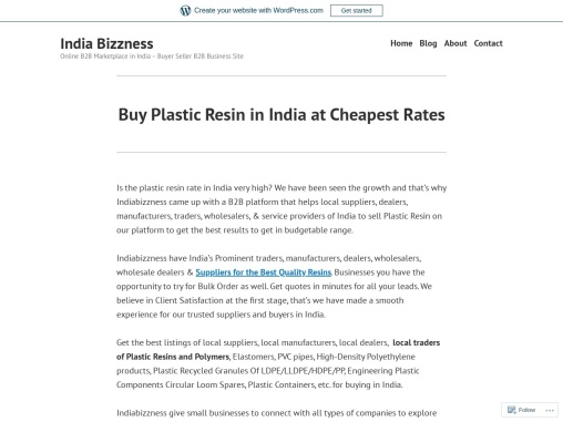 Buy Plastic Resin and Polymers Online at Best Price – IndiaBizzness B2B Portal