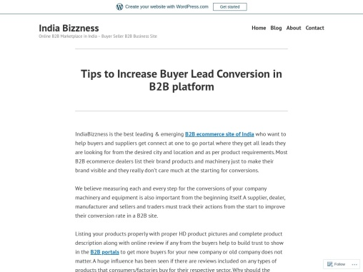 Tips to Increase Buyer Lead Conversion in B2B Platform – IndiaBizzness -Seller Suppliers