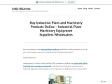 Industrial Plants and Machinery Products Suppliers Exporters Manufacturers – Buy Industrial Plants a