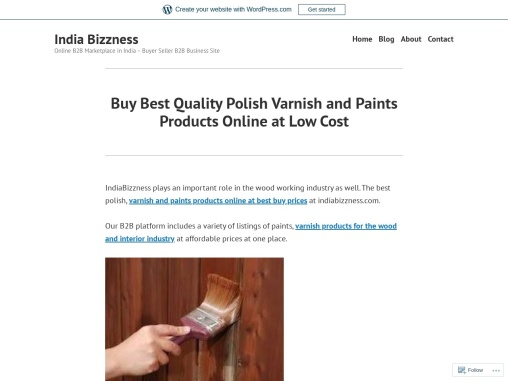 Buy Best Quality Polish Varnish and Paints Products Online – IndiaBizzness B2B Portal