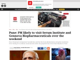 PM likely to visit Serum Institute and Gennova Biopharmaceuticals over the weekend