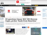 ED questions Emaar MGF MD Shravan Gupta, probes 'funds from Mauritius'