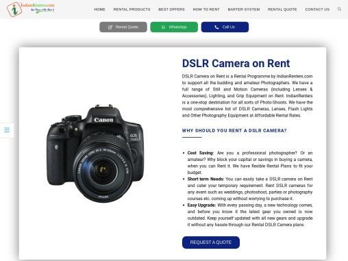 Excellent range of DSLR cameras on rent in Delhi