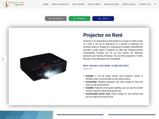 Branded projector on rent in Delhi-NCR region