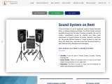 Indian Renters provides the sound system on rent in Bangalore