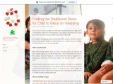 Finding the Traditional Dress for Child to Wear on Wedding