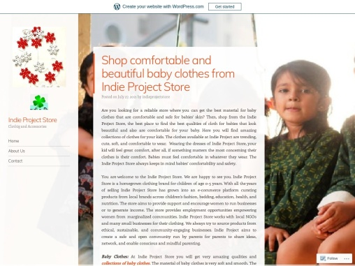 Shop comfortable and beautiful baby clothes from Indie Project Store