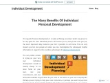The Many Benefits Of Individual Personal Development