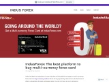 IndusForex: The best platform to buy multi-currency forex card