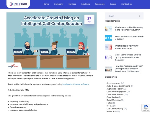 How to Accelerate Growth Using an Intelligent Call Center Solution?