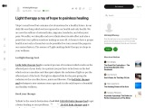 Light therapy a ray of hope to painless healing