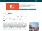 Evolution of Mortgage Pricing System with LOS