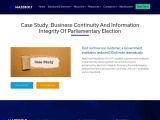 Government DDoS Case Study | Business Continuity and Information Integrity of Parliamentary Election